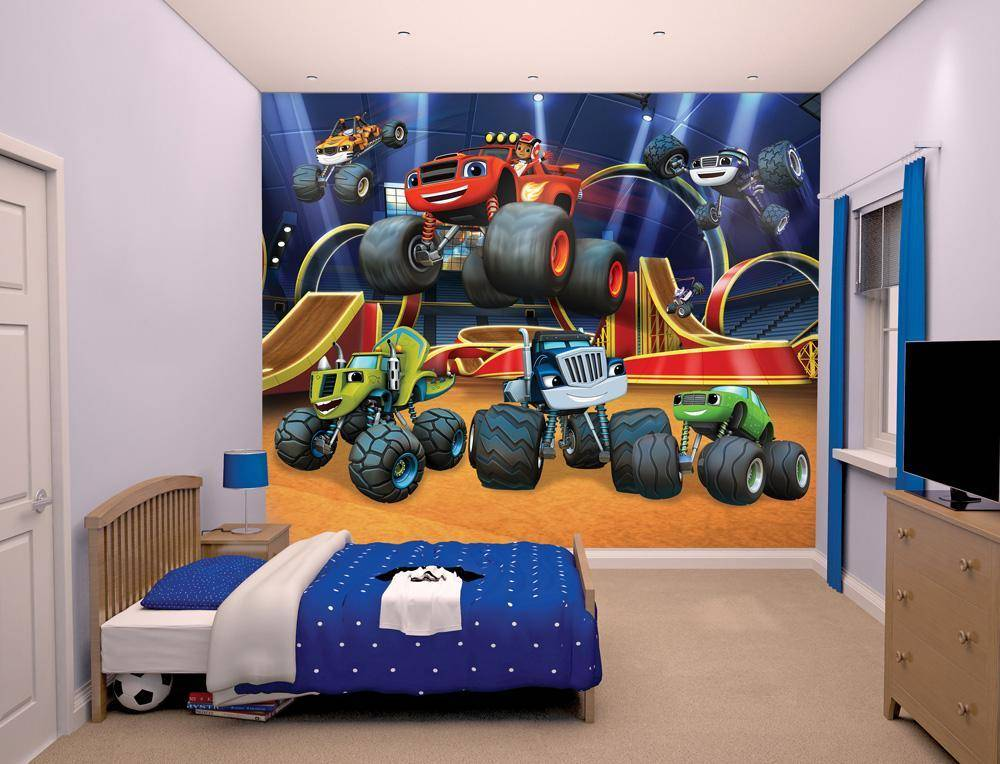 Blaze ja monsterikoneet tapetti - Walltastic Blaze 44524