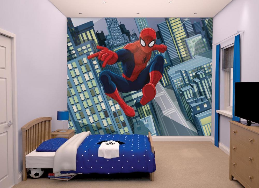 Spiderman Spider-Man tapetti - Walltastic Spiderman lastenhuone 43824