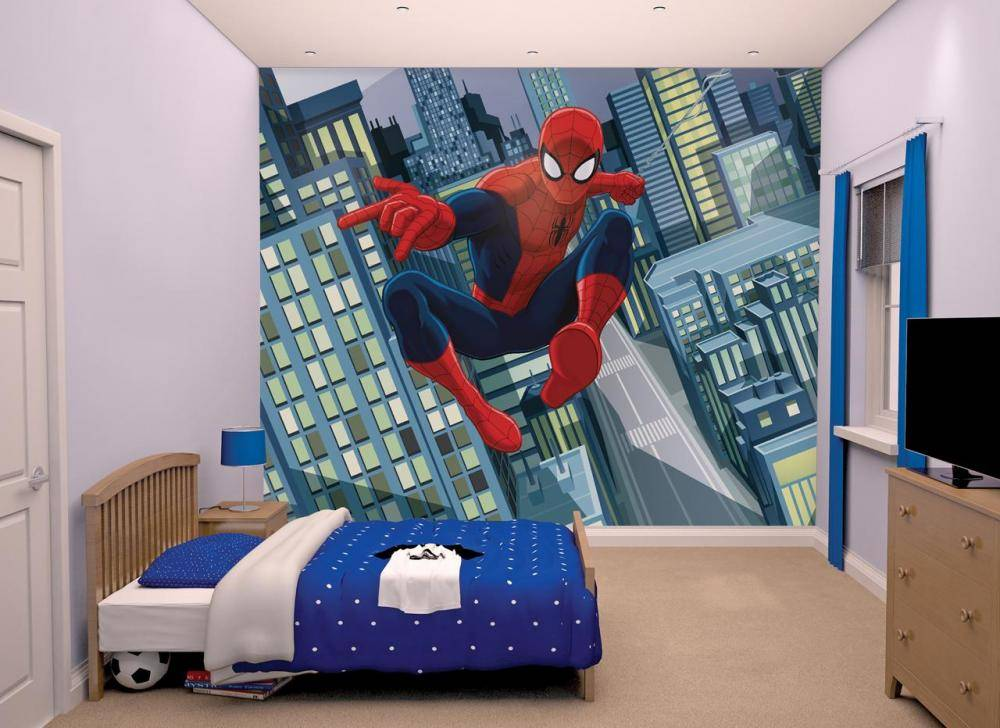 Spiderman Spider-Man tapetti - Walltastic Spiderman lastenhuone 43824