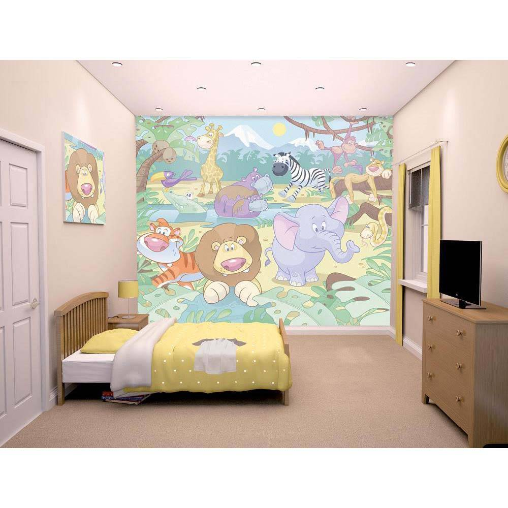 Walltastic Viidakkosafari tapetti - Walltastic viidakko 40595