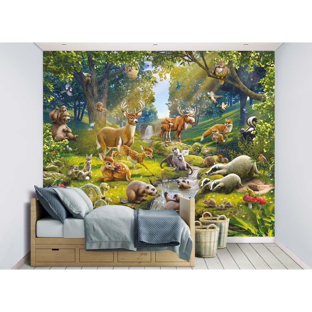 Walltastic Metsän eläimet tapetti - Walltastic Metsän eläimet lastenhuone 4306