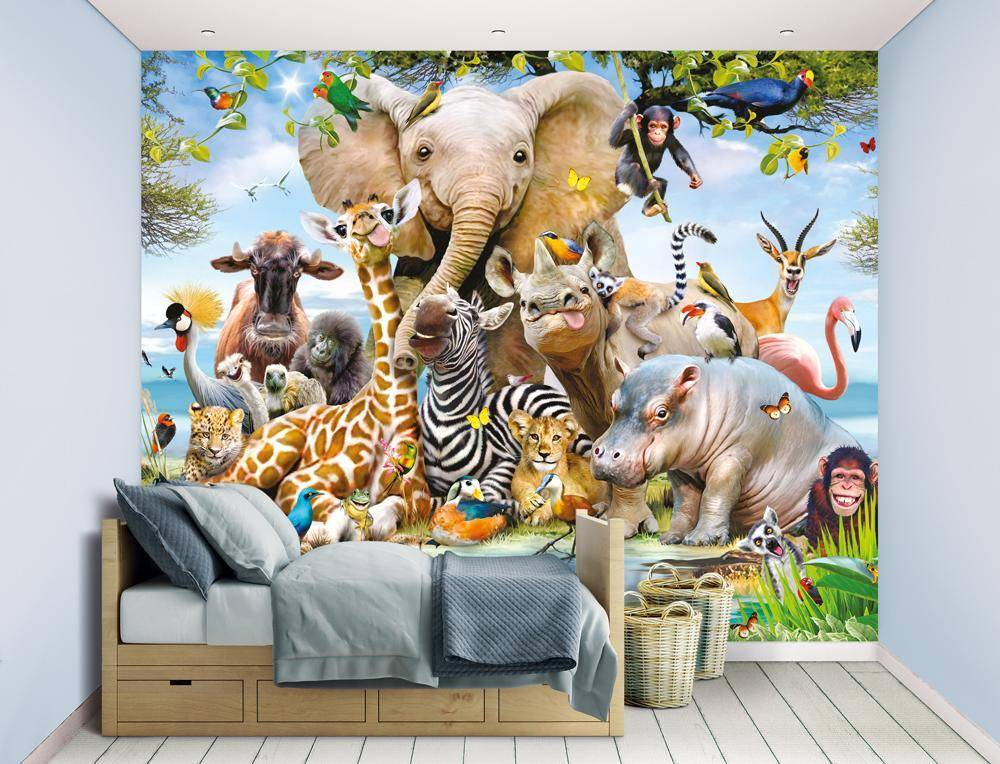Walltastic Jungle Safari tapetti - Walltastic Jungle 45255