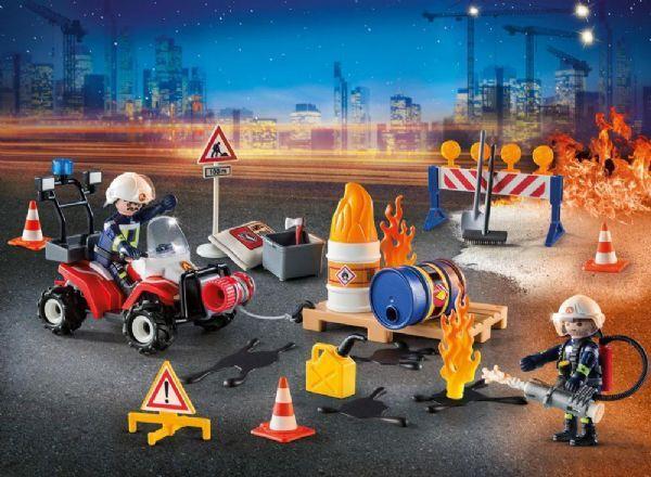 Playmobil Joulukalenteri Tulipalo Rakennustyömaalla - Playmobil Joulukalenterit 9486