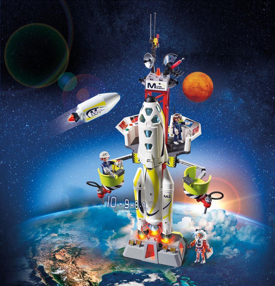 Playmobil Mars raketti katastrofilla - Playmobil Space 9488