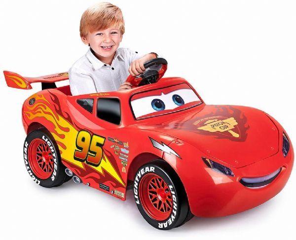 Cars Salama McQueen sähköauto 6V - Disney Cars sähköauto 720004