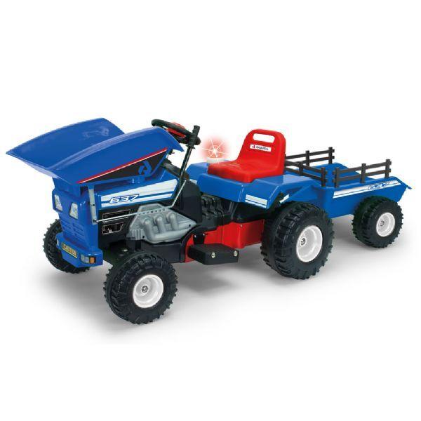Injusa Traktorin sähköauto 12V sinine - Injusa sähköautotraktorin kipp