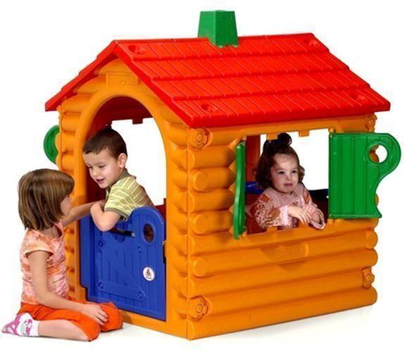 Injusa Leikkimökki Hirsimökki - Muovinen leikkimökki House The Hut-Truncs House 20