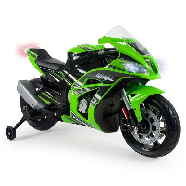 Injusa Kawasaki Ninja El Moottoripyör - Sähköauto lapsille 12v 6495