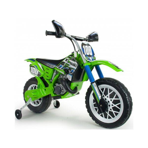Injusa Kawasaki-moottoripyörä 12v - Lasten sähköauto 12 voltin 683