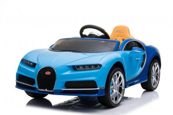Sininen Bugatti Chiron kumiren - Sähköauto lapsille 000030