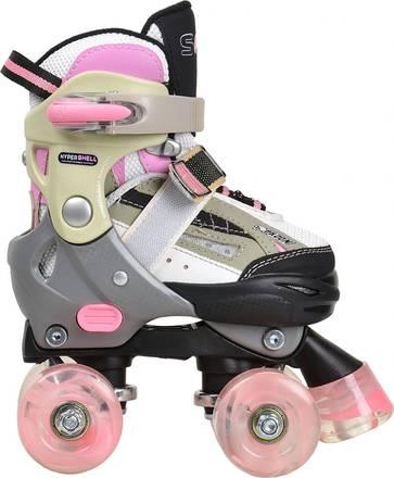 SFR Quad Tyttöjen Rullaluistimet SFR Racing Typhoon Pink säädettävät