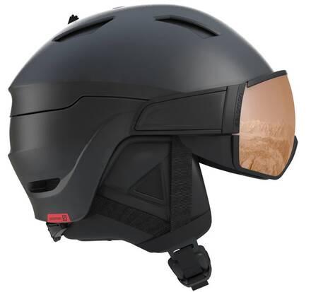 Salomon Laskettelukypr Salomon Driver S Visor - Lens (Musta/Punainen)