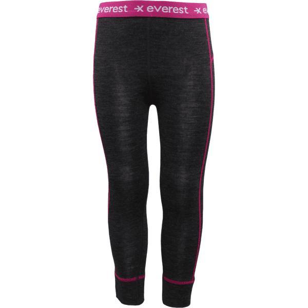 Image of Everest K Wool Uw Pant Lumilautailuvaatteet DARK GREY/PINK (Sizes: 86-92)