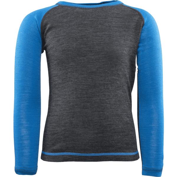 Image of Everest K Wool Uw Shirt Lumilautailuvaatteet DARK GREY/BLUE (Sizes: 86-92)