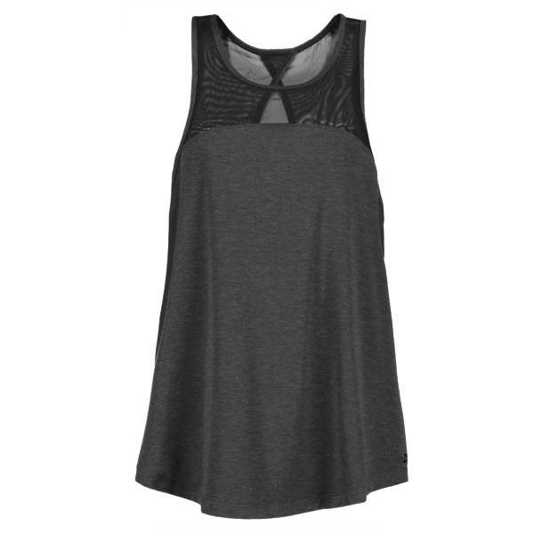 New Balance W Mesh Layertank Treenivaatteet GREY/BLACK (Sizes: XS)