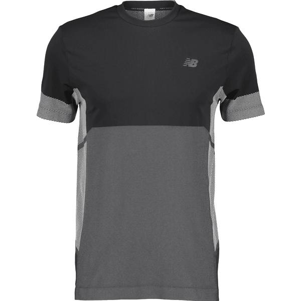 New Balance M Stretch Short Sleeve Juoksuvaatteet BLACK (Sizes: M)