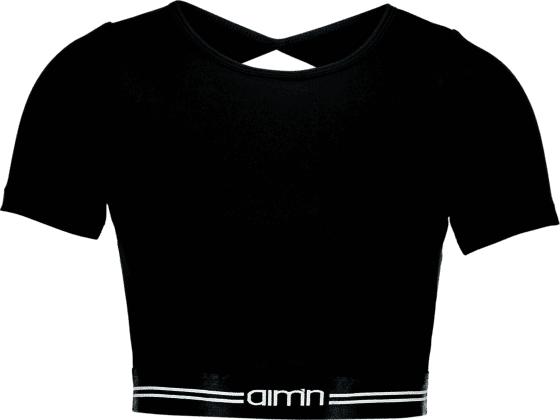 Aim´n W Open Back Short Sleeve Treenivaatteet BLACK (Sizes: L)