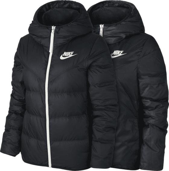 Nike W Nsw Dwn F Jkt Hd Untuvatakit BLACK/BLACK/SAIL (Sizes: L)