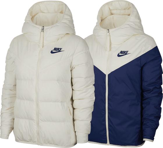 Nike W Nsw Dwn F Jkt Hd Untuvatakit PALE IVORY/BLUE VO (Sizes: XL)