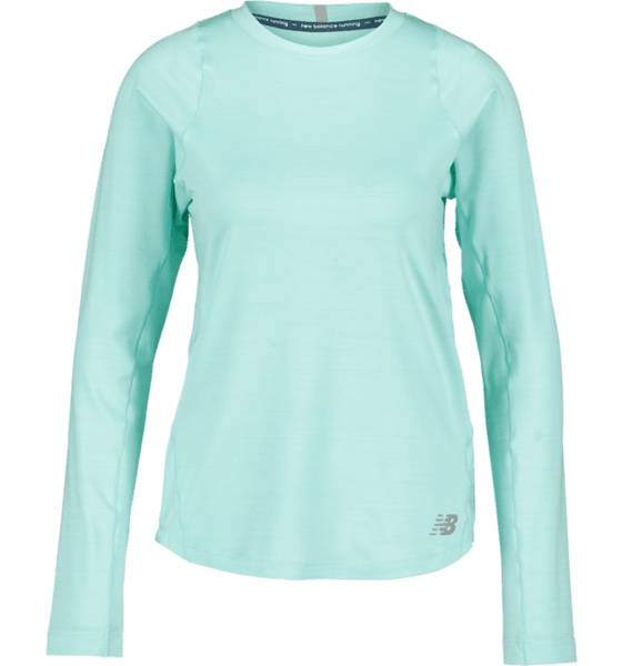 New Balance W Seasonless Ls Juoksuvaatteet GREEN (Sizes: XS)