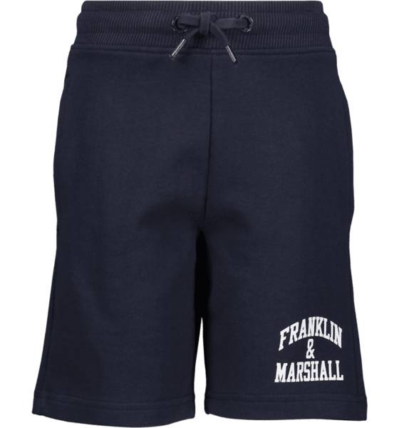Marshall Franklin & Marshall J Badge Logo Sweat Shorts Vapaa-ajan shortsit NAVY (Sizes: 7-8 Year)