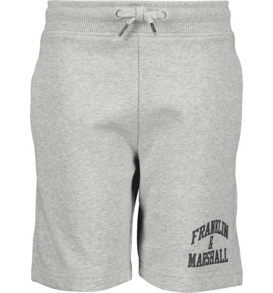 Marshall Franklin & Marshall J Badge Logo Sweat Shorts Vapaa-ajan shortsit VINTAGE GREY HTHR (Sizes: 12-13 Y)