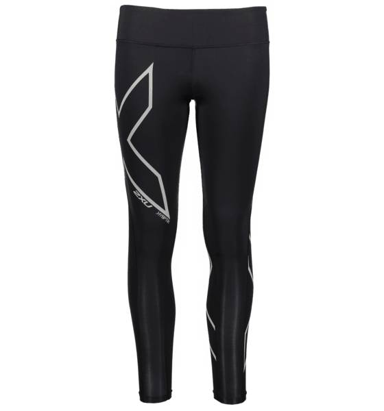 Image of 2xu W Hyoptik Mid-rise Compression Tights Juoksuvaatteet BLACK/SILVER REFLE (Sizes: XST)