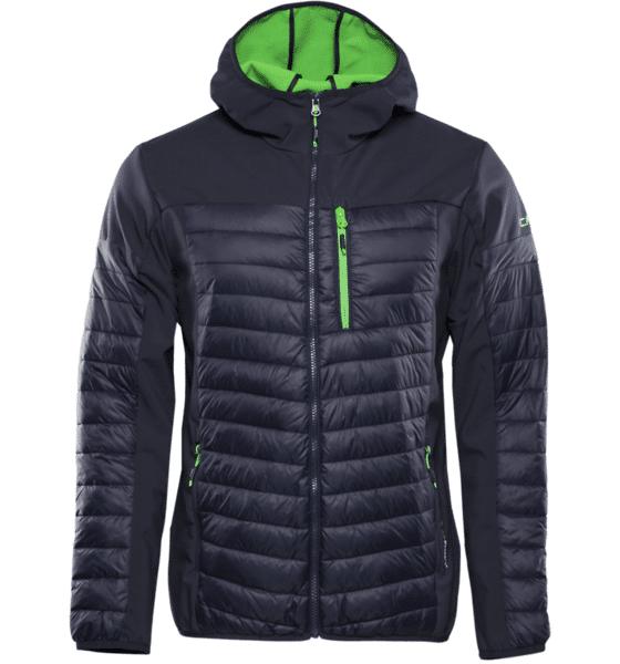 Cmp M Fix Hood Hybrid Jacket Takit B. BLUE (Sizes: 54)