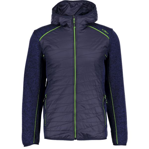 Cmp M Fix Hood Hybrid Jacket Knitted Retkeilyvaatteet B. BLUE (Sizes: 54)