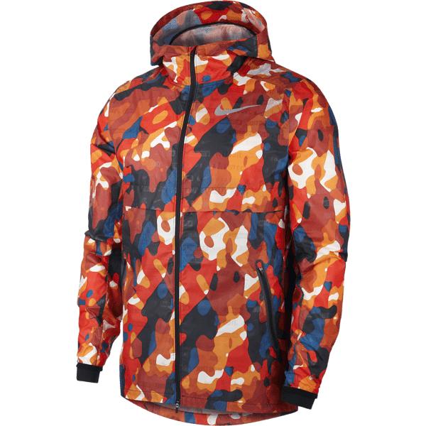 Image of Nike M Nk Shield Ghost Fl Camo Jkt Juoksuvaatteet HABANERO RED/BLACK (Sizes: S)