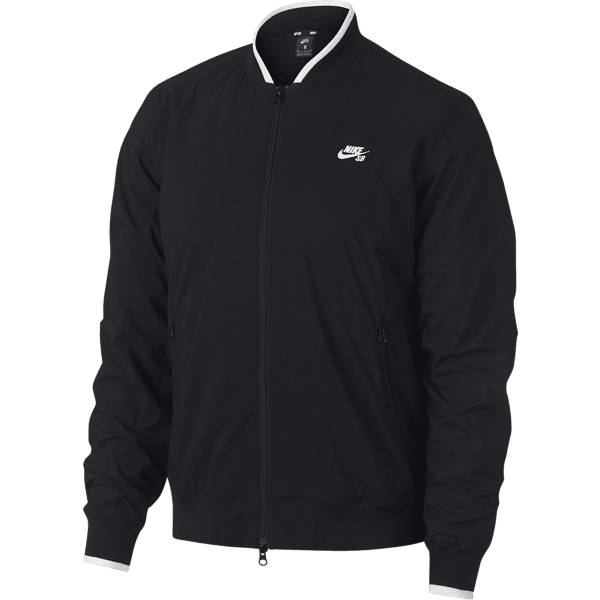 Nike M Sb Jkt Icon Bomber Syystakit BLACK/WHITE (Sizes: S)