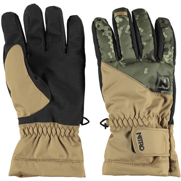 Nitro U Flight Glove Lumilautailuvaatteet CAMO (Sizes: L)