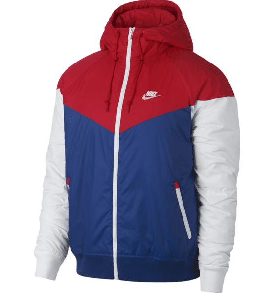 Image of Nike M Nsw He Wr Jkt Hd Insltd Kevättakit UNIVERSITY RED/IND (Sizes: S)