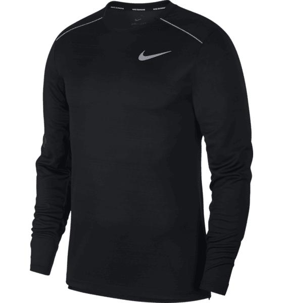 Nike M Dry Miller Top L Juoksuvaatteet BLACK/BLACK/REFLEC (Sizes: L)