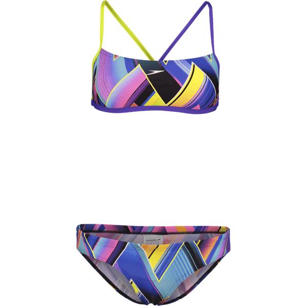 Speedo W Fizz Bounce 2 Piece Crossback Bikinit VIOLET/LIME PUNCH (Sizes: 36)