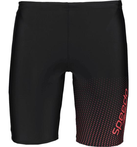 Speedo M Gala Log Jammer Uimahousut BLACK/LAVA RED (Sizes: L)