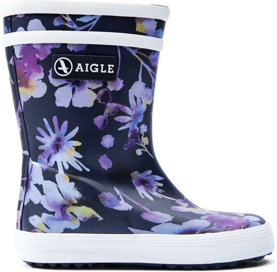 Aigle K Baby Flac Prnt Rb Kumisaappaat DARK FLOWER (Sizes: 22)