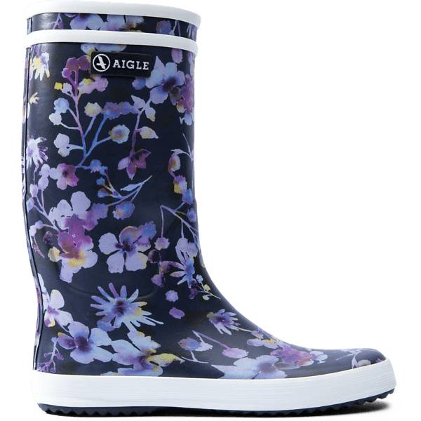 Aigle J Lolly Pop Prnt Rb Kumisaappaat DARK FLOWER (Sizes: 24)