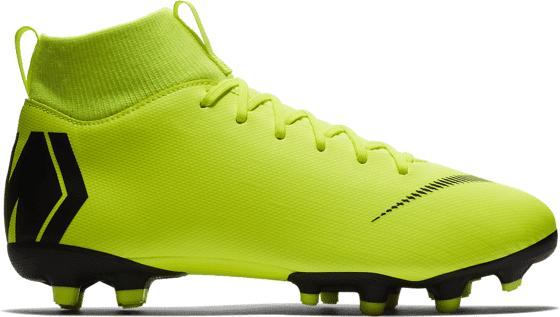 Nike Jr Mercurial Superfly 6 Academy Gs Mg Jalkapallokengät VOLT/BLACK (Sizes: US 5)