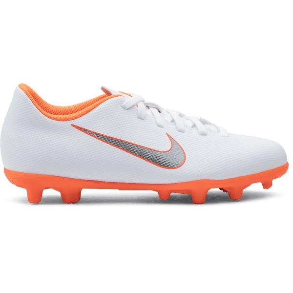 Nike Jr Mercurial Vapor 12 Club Gs Mg Jalkapallokengät WHITE/TOTAL ORA (Sizes: US 5.5)