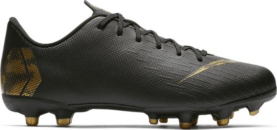 Nike Jr Vapor 12 Academy Gs Mg Jalkapallokengät BLACK/MTCL VIVID G (Sizes: US 2.5)