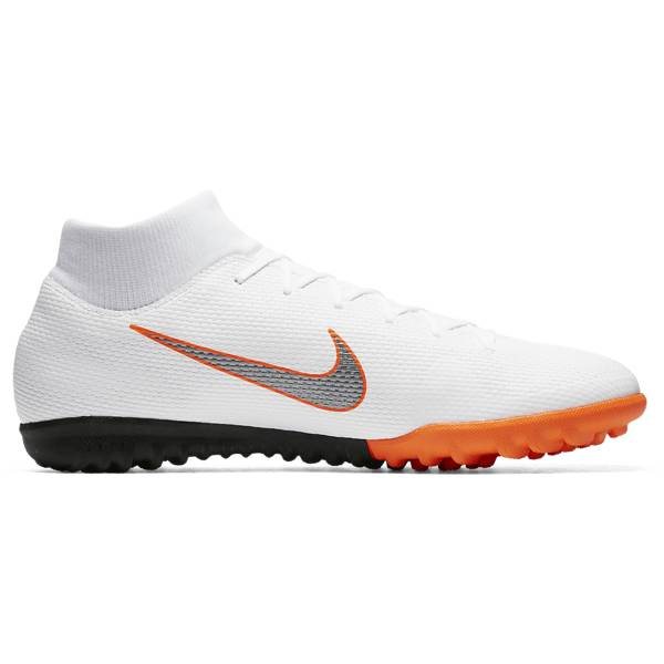 Nike Mercurial Superflyx 6 Academy Tf Jalkapallokengät WHITE/MTLC COOL GR (Sizes: US 12.5)