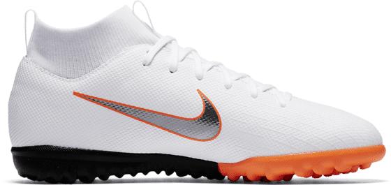 Nike M Sfly 6 Acd Tf Jr Jalkapallokengät WHITE/TOTAL ORA (Sizes: US 6)