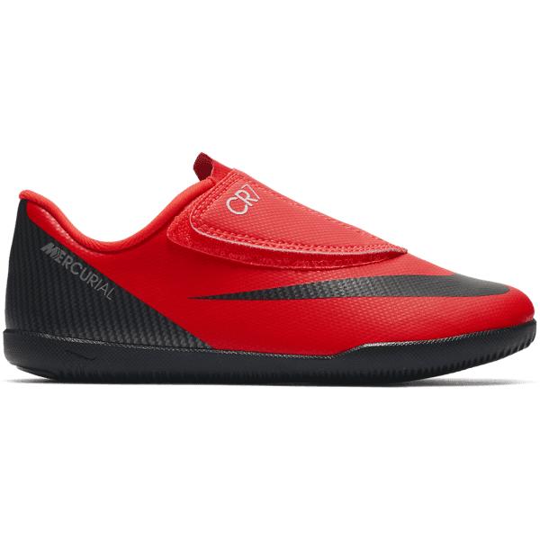 Nike Jr Vaporx 12 Club Ps (v)cr7 Ic Jalkapallokengät BRIGHT CRIMSON/BLA (Sizes: US 13C)