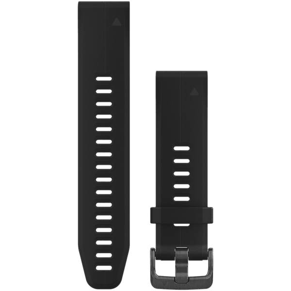 Image of Garmin Quickfit 20 Watchband Silicon Sykemittarit BLACK/SILICON (Sizes: One size)