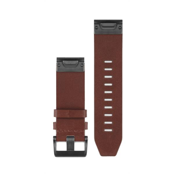 Image of Garmin Quickfit 26 Watchband Brown Leather Sykemittarit BROWN LEATHER (Sizes: One size)
