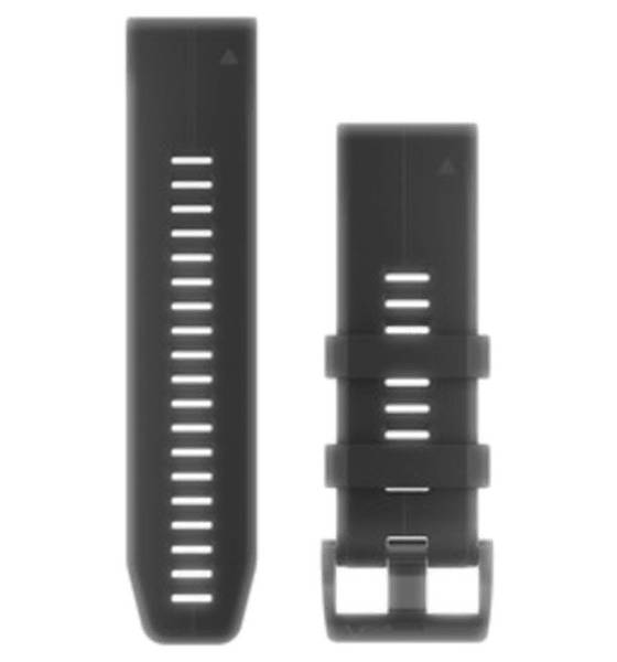 Image of Garmin Quickfit 26 Watchband Silicon Sykemittarit BLACK/SILICON (Sizes: One size)