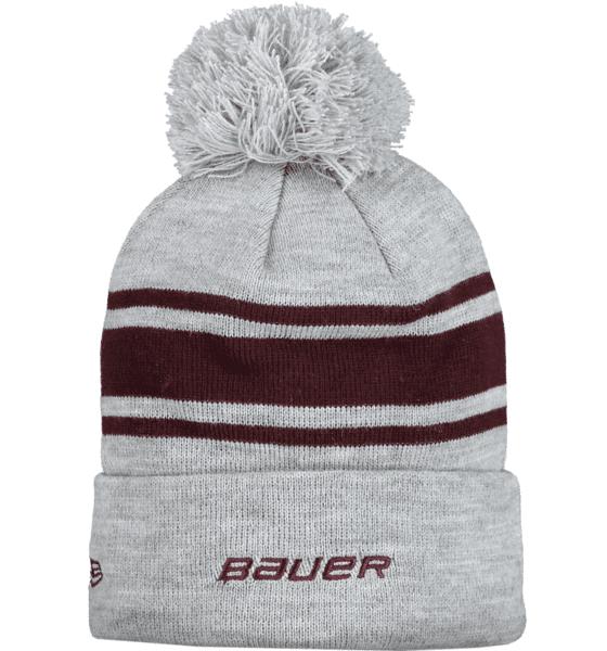 Bauer Team Stripe Pom Pom Pipot GREY/WINE RED (Sizes: One size)