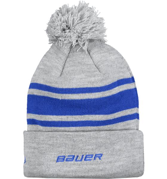 Bauer Team Stripe Pom Pom Pipot GREY/BLUE (Sizes: One size)