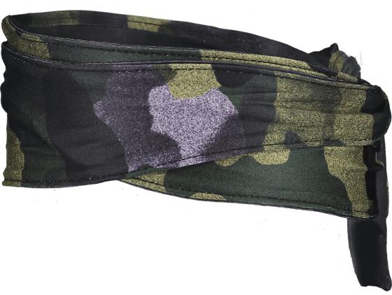 Image of Nike Printed Bandana Head Tie Otsapannat CLUB GOLD/BLACK/PI (Sizes: One size)